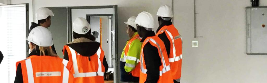 Visite de chantier de la Cité Numérique